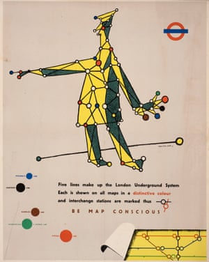 Be Map Conscious, poster for London Transport, 1945 by George Him.