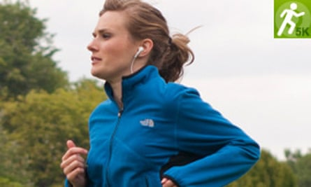Laura, the original voice of the NHS's running programme, Couch to 5k