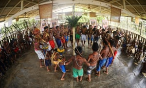 Munduruku indigenous people and other communities from the Tapajós river region, whose land is at risk from planned hydroelectric projects.
