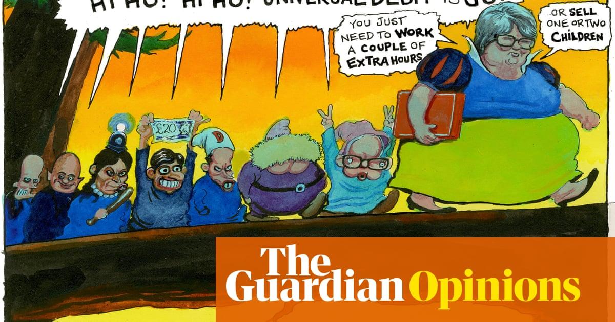 Steve Bell on Thérèse Coffey and the universal credit cut – cartoon
