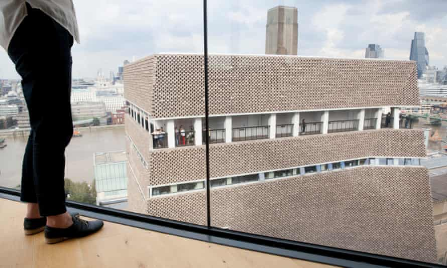 Tate Modern's viewing gallery, seen from the Neo Bankside building.