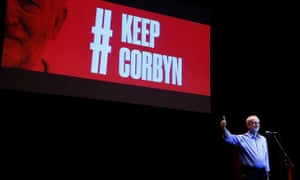 Underestimated potency … Jeremy Corbyn speaks at a campaign rally in Brighton in 2016.
