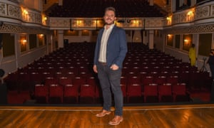 Constellations director, Michael Longhurst, at the Vaudeville theatre in July.