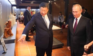Xi Jinping takes Russian president Vladimir Putin on a tour of China's cultural heritage on Sunday