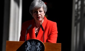 Theresa May announcing her resignation outside 10 Downing Street