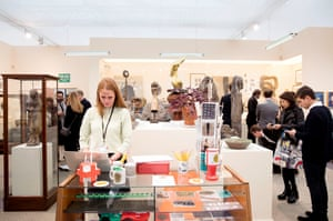 The Hauser & Wirth gallery stand, who this year have themed their exhibition space to look like a museum with a fake exhibition titled the Bronze Age, placing artworks beside real artefacts bought on eBay