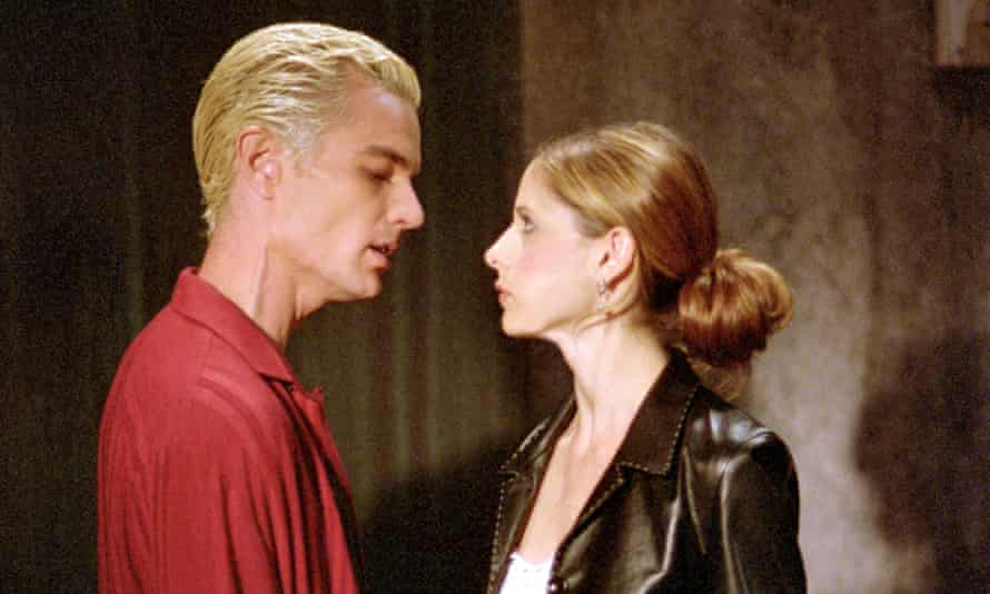 James Marsters and Sarah Michelle Gellar in Buffy the Vampire Slayer.