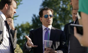 Anthony Scaramucci speaks to the press last Tuesday. Six days later, he was gone.