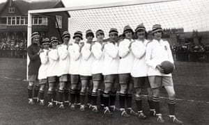 The 1920-21 Dick, Kerr Ladies team, who played before a crowd of 53,000 at Everton's Goodison Park.