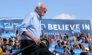 Bernie Sanders campaigning in Kissimmee, Florida.