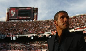 Diego Simeone in 2008, when he was managing River Plate in Argentina.