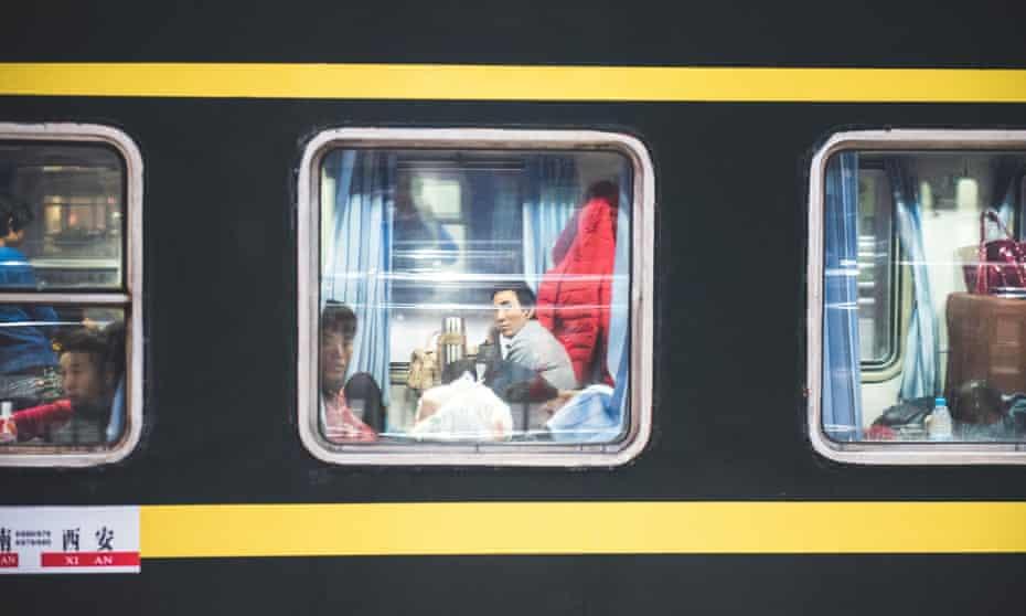 Trans-Siberian train window