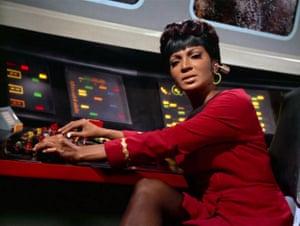 Nichelle Nichols in the Star Trek episode A Piece of the Action, 1968.