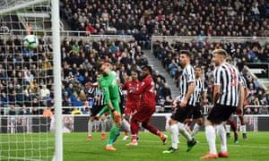 Divock Origi puts Liverpool back in front.