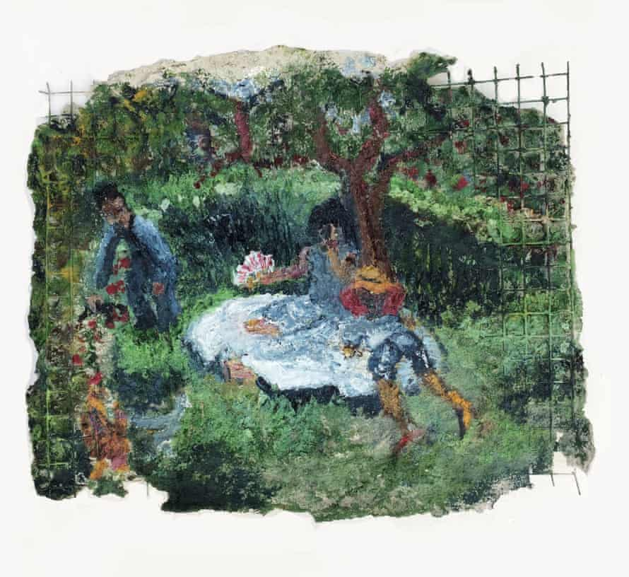 Jarett Key's Key Family in the Garden, 2019. One of the works from the Lumpkin-Boccuzzi Family Collection
