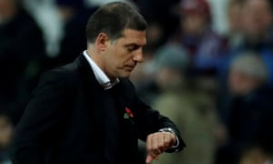 West Ham United manager Slaven Bilic looks dejected after the match . Action Images via Reuters/Andrew Couldridge