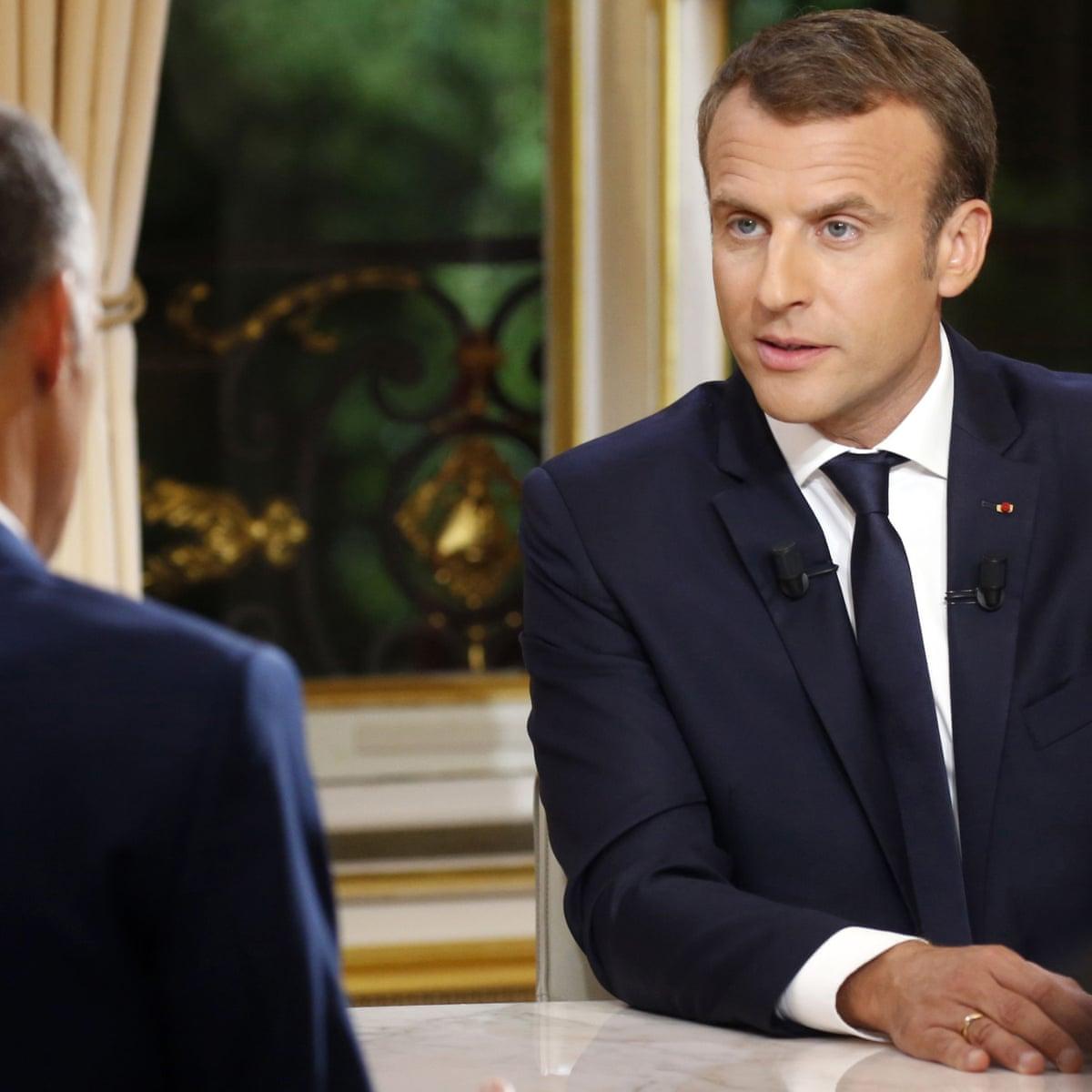 Emmanuel Macron Claims In Tv Interview I Am Not Cut Off Emmanuel Macron The Guardian