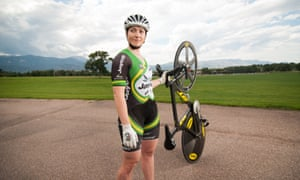 Anna Meares poses during a portrait shoot at Memorial Park in Colorado Springs in August 2015, a year out from the Rio Olympic Games.