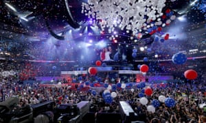 The Democratic National Convention at the Wells Fargo Center, on 28 July 2016 in Philadelphia, Pennsylvania.
