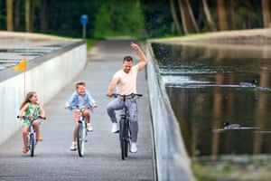 Cycling Through Water by Visit Limburg and Lens°Ass Architects in Limburg, Belgium