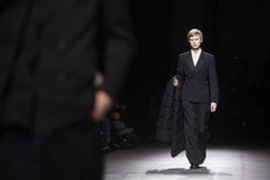 Black tailoring at Dries van Noten in Paris.