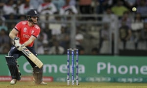 England's captain Eoin Morgan bats during their ICC World Twenty20 2016 match against West Indies.