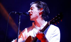 Alex Turner on stage at Brighton Dome.