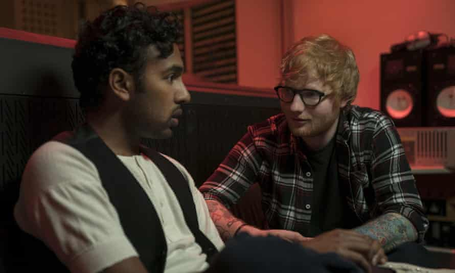 Good-sport cameo … Ed Sheeran with Himesh Patel in Yesterday.