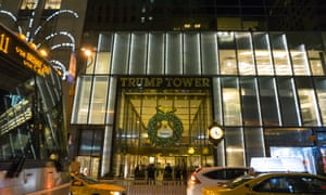 Trump Tower, Fifth Avenue, New York: the home of billionaire real-estate tycoon and US president-elect Donald Trump.