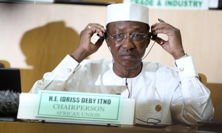 The newly elected AU chairman, Chadian president Idriss Déby.