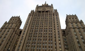 Russia's foreign ministry building in Moscow.