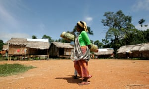 A Batek woman near the Kuala Koh national park in the northeastern peninsular Malaysian state of Kelantan.