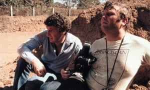 In El Salvador in 1982, with cameraman Alan 'Bulletproof' Stevens. Of war reporting, Paxman says: 'I made no bones about it. I got too frightened'