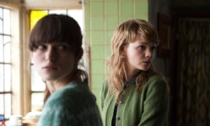 Keira Knightley as Ruth and Carey Mulligan (right) as Katrhy in the 2010 film of Never Let Me Go.