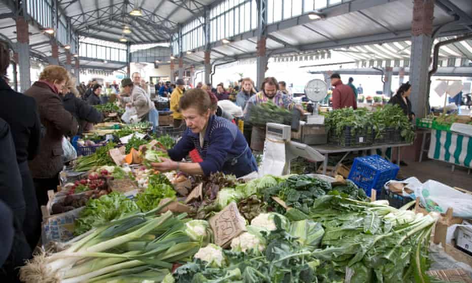Farmers market at Porta Palazzo Turin Italy