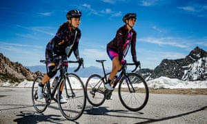 women riding in high mountains