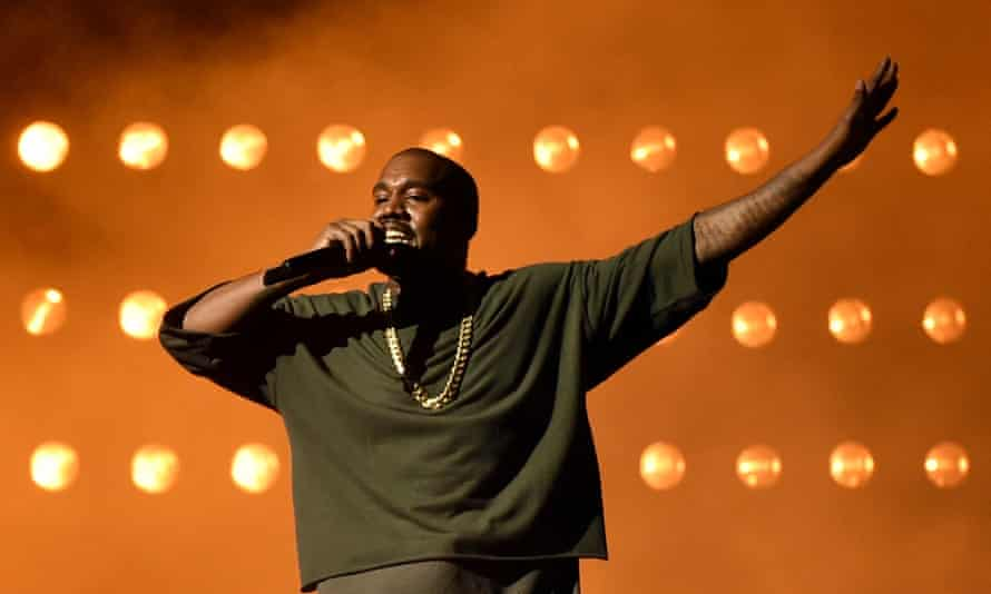 Kanye West performs at the 2015 iHeartRadio Music festival in Las Vegas.