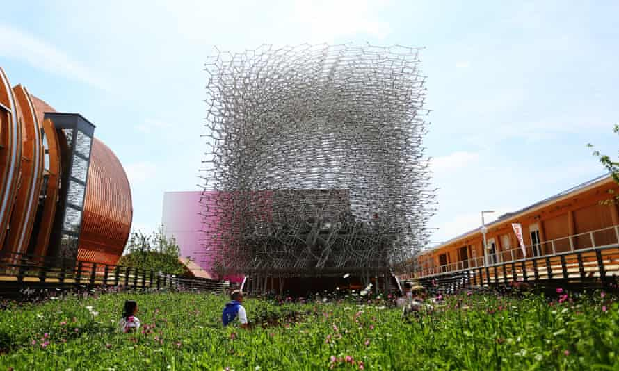 The UK pavilion during the Milano Expo 2015.