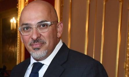 Education minister Nadhim Zahawi