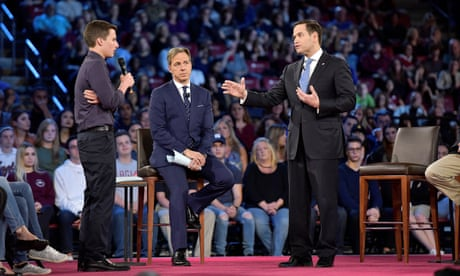 Marco Rubio almost got away with his routine. Then he met Cameron Kasky
