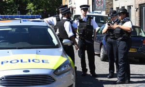 Police at the scene of a fatal stabbing in south London in August