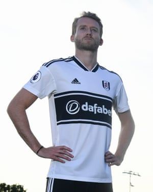 André Schürrle is unveiled at Fulham's training ground.