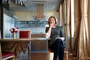 Journalist Arianna Huffington photographed at home in New York