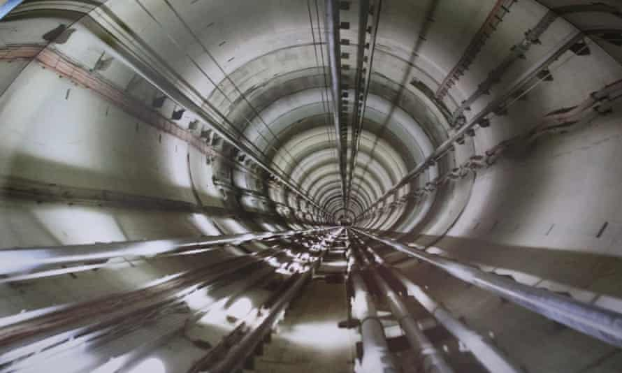An underground nuclear waste storage site under construction at Meuse in France.