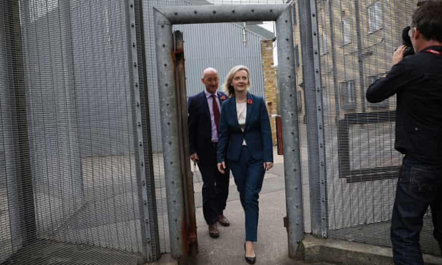 Justice secretary Liz Truss visits HMP Brixton