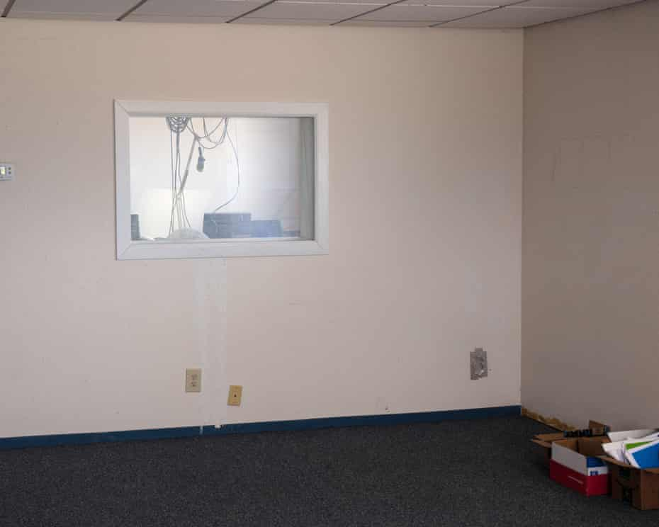 The first room when you enter the radio station in Willcox, Arizona.