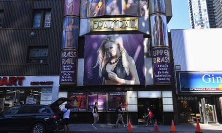The Brass Rail strip club in Toronto. Health officials reached out to the clients that had left their details in the establishment's contact tracing log, urging them to get tested and self-isolate.