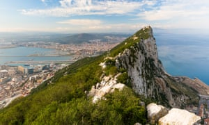 The Bay of Gibraltar and La Linea, seen from the Rock.