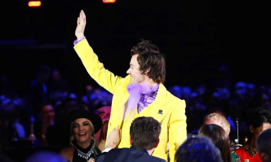 Harry Styles at the Brits.