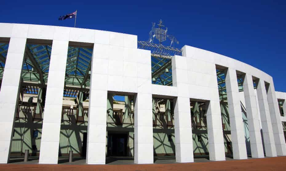Parliament House in Canberrra